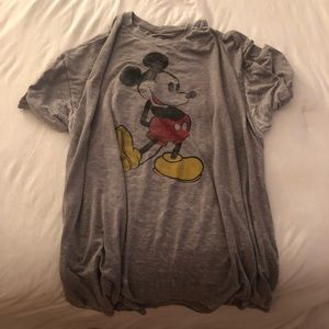 Disney grey Mickey shirt